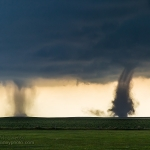 Twin Tornadoes - 5/31/18 Cope, CO